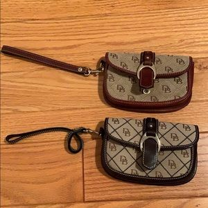 Two Authentic Dooney & Bourke Wristlets